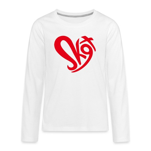 Salzkammergut Herz rot - Teenager Premium Langarmshirt