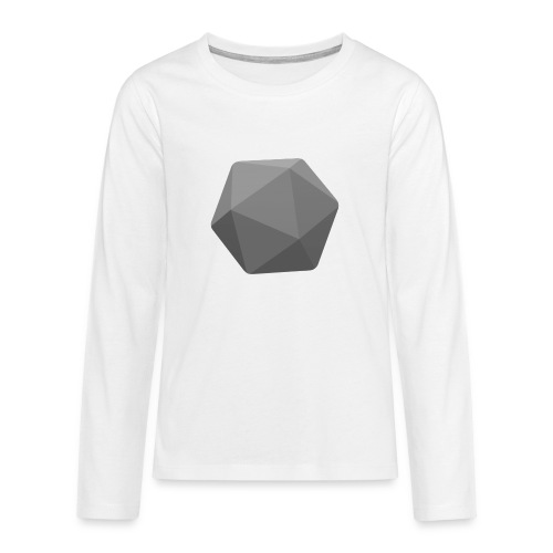 Grey d20 - D&D Dungeons and dragons dnd - Teinien premium pitkähihainen t-paita