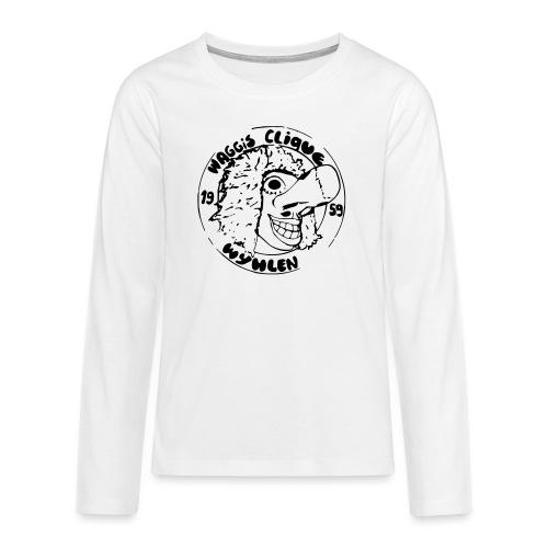 Foto3 4 Logo 80er Kontur - Teenager Premium Langarmshirt