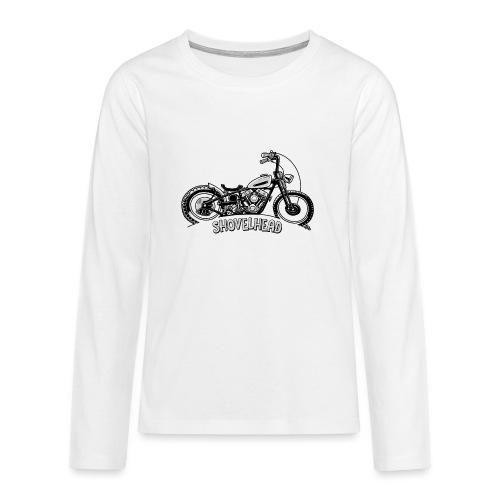 0917 chopper shovelhead - Teenager Premium shirt met lange mouwen