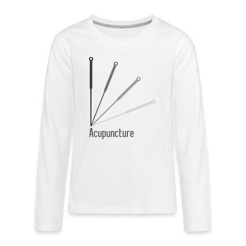 Acupuncture Eventail (logo noir) - T-shirt manches longues Premium Ado