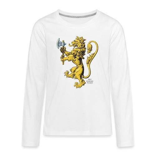 Den norske løve i gammel versjon - Premium langermet T-skjorte for tenåringer