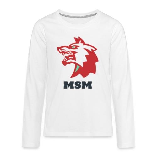 MSM WOLF - Teenager premium T-shirt med lange ærmer