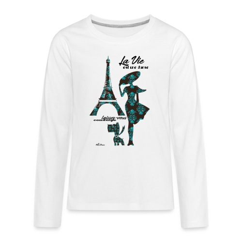La Vie est une danse - Maglietta Premium a manica lunga per teenager