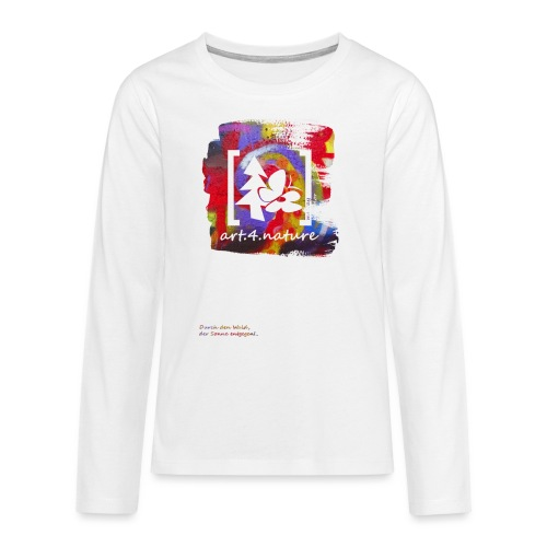 #art.4.nature / rot - Teenager Premium Langarmshirt