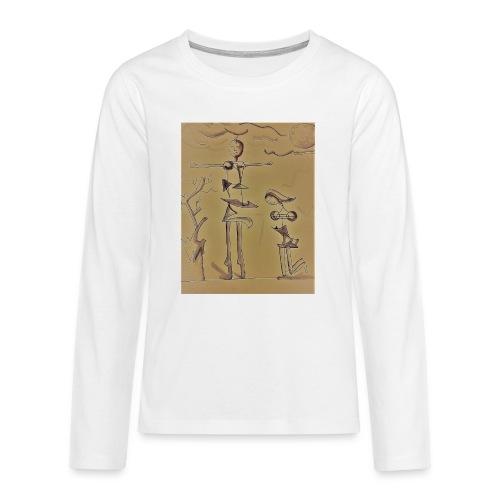 Preghiera - seppia. - Maglietta Premium a manica lunga per teenager