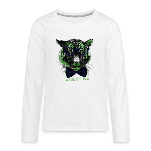 Tigerkopf_Look at me - Teenager Premium Langarmshirt