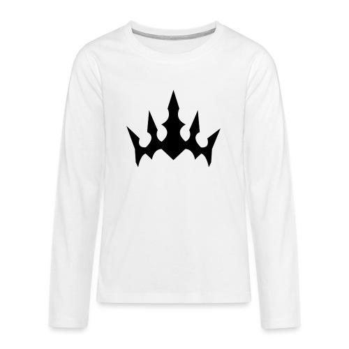 Black Crown - Teenager premium T-shirt med lange ærmer