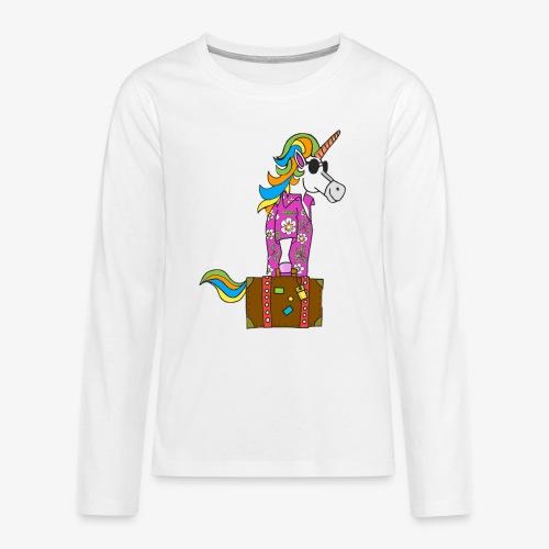 Unicorn trip - T-shirt manches longues Premium Ado
