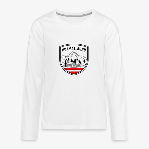 hoamatlaund österreich - Teenager Premium Langarmshirt
