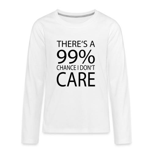 Ist mir egal lustiges Design Sarkasmus - Teenager Premium Langarmshirt