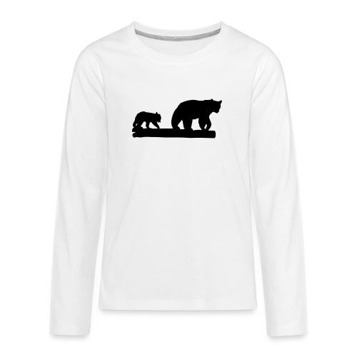 Bären Bär Grizzly Wildnis Natur Raubtier - Teenager Premium Langarmshirt