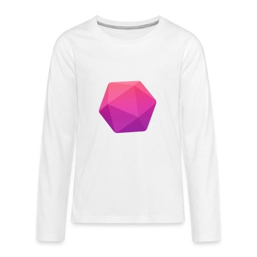 Pink D20 - D&D Dungeons and dragons dnd - Teinien premium pitkähihainen t-paita