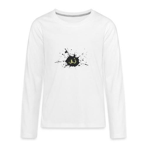 JU spray logo - Teinien premium pitkähihainen t-paita