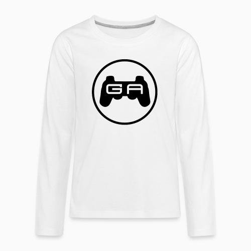 Sort på Hvidt - Teenager premium T-shirt med lange ærmer