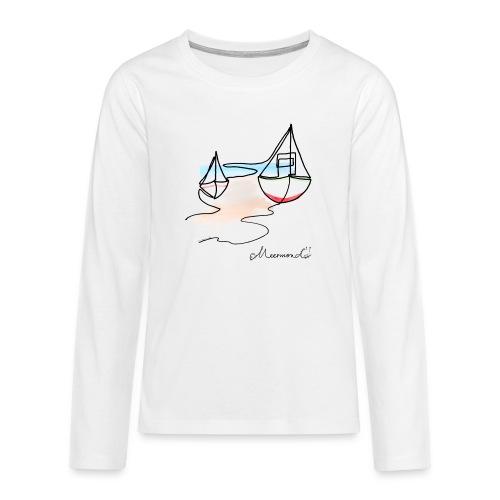 Fiskerbåde 2 - logo - Teenager premium T-shirt med lange ærmer