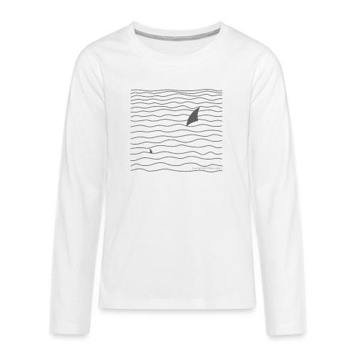 Windsurfer & Shark (black) - Teenager Premium Langarmshirt