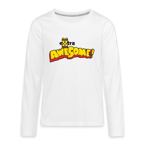 eXtra Awesome Down's Syndrome Tee - Teenagers' Premium Longsleeve Shirt