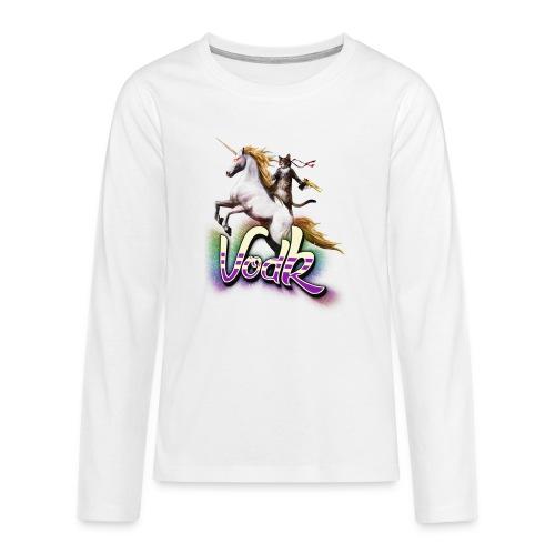 VodK licorne png - T-shirt manches longues Premium Ado