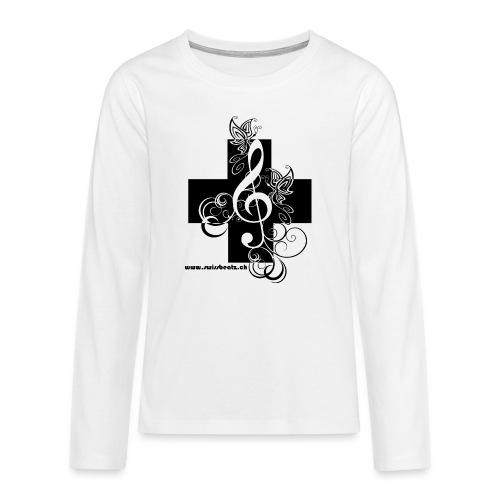 Swiss Beatz Logo non L - Teenager Premium Langarmshirt