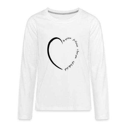 Multi Love - T-shirt manches longues Premium Ado