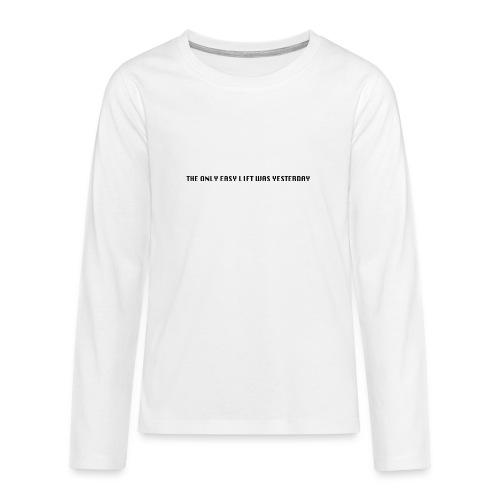 170106 LMY t shirt hinten png - Teenager Premium Langarmshirt