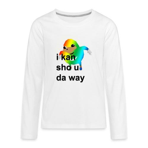 uganda - Teinien premium pitkähihainen t-paita