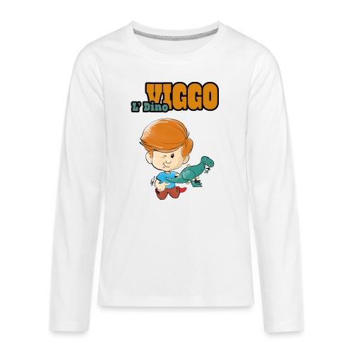 LDinoViggo Logo total - Teenager premium T-shirt med lange ærmer