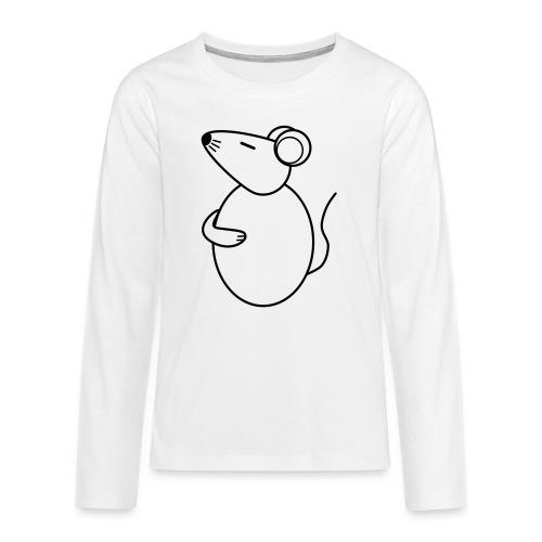 Rat - just Cool - sw - Teenager Premium Langarmshirt
