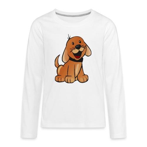 cartoon dog - Maglietta Premium a manica lunga per teenager