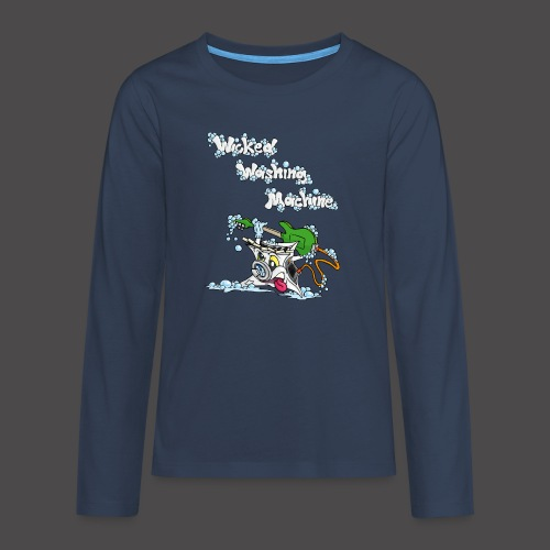 Wicked Washing Machine Cartoon and Logo - Teenager Premium shirt met lange mouwen