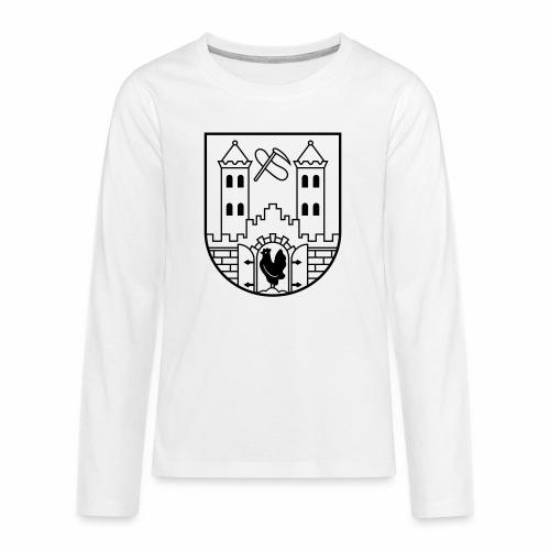 Suhl Coat of Arms (black) - Teenagers' Premium Longsleeve Shirt