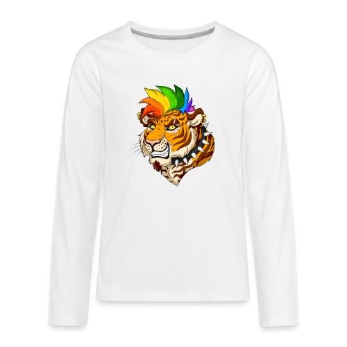 Punk Tiger - Koszulka Premium z długim rękawem dla nastolatków