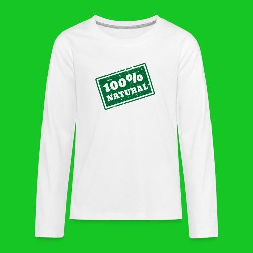 100% natural PNG - Teenager Premium shirt met lange mouwen