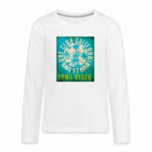Long Beach Surf Club California 1976 Gift Idea - Teenagers' Premium Longsleeve Shirt
