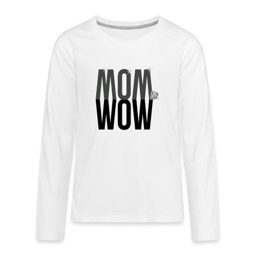 MOM WOW dunkel - Teenager Premium Langarmshirt