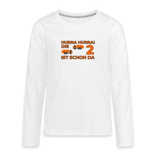 Drugie urodziny Śmieciarka - Koszulka Premium z długim rękawem dla nastolatków
