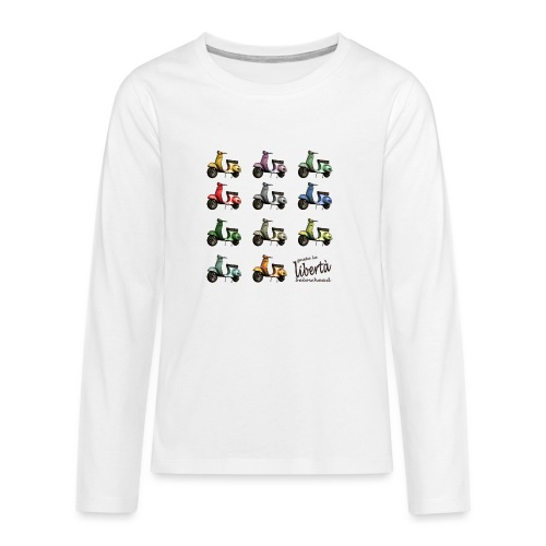 ♂ BIO-SHIRT: gusta la libertà - Teenager Premium Langarmshirt