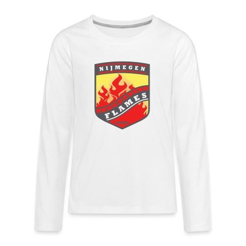 t-shirt kid-size zwart - Teenager Premium shirt met lange mouwen