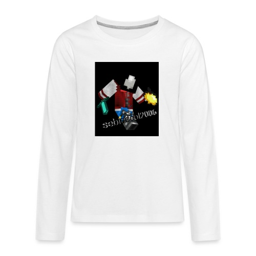 Sebastian yt - Teenager premium T-shirt med lange ærmer