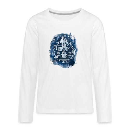 Hamburg_Ink.png - Teenager Premium Langarmshirt