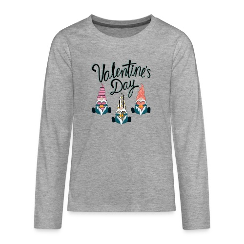 Valentine's Day Gnome - Teenagers' Premium Longsleeve Shirt
