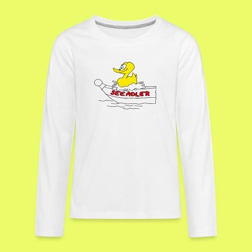 Seeadler_rot - Teenager Premium Langarmshirt