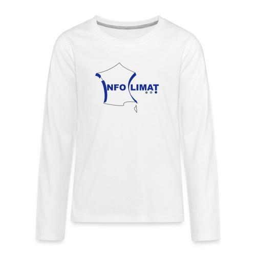 logo simplifié - T-shirt manches longues Premium Ado
