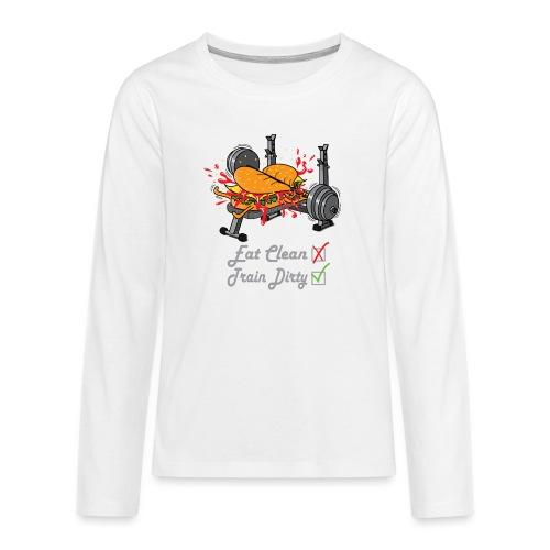 Hamburger Développé Couché Musculation - T-shirt manches longues Premium Ado