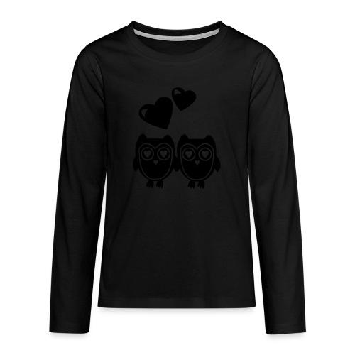 verliebte Eulen - Teenager Premium Langarmshirt