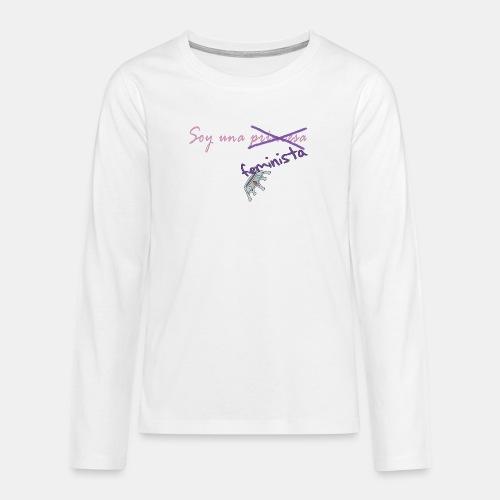 Soy feminista, no princesa - Camiseta de manga larga premium adolescente