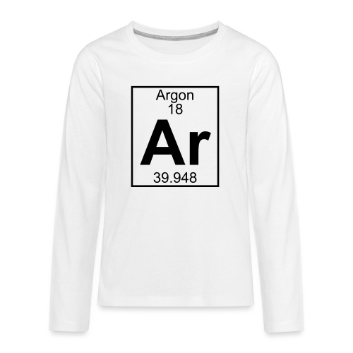 Argon (Ar) (element 18) - Teenagers' Premium Longsleeve Shirt
