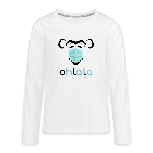 OHLALA CORONA WHITE - T-shirt manches longues Premium Ado