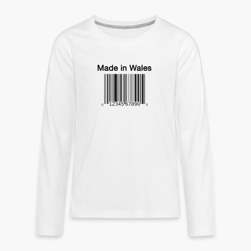 Made in Wales - Teenagers' Premium Longsleeve Shirt